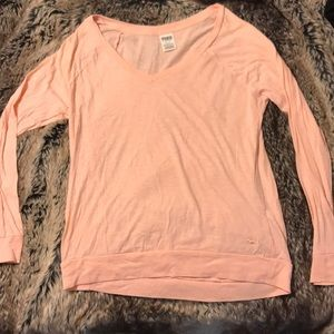 PINK Small Pink Long-Sleeve Top
